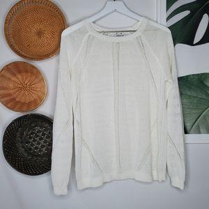 Bailey 44 White Mesh Sweater Fishnet Boho